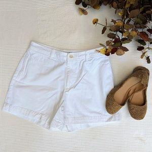 GAP Retro Cut Solid White Shorts